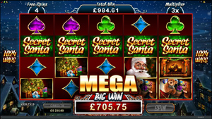 secret santa slot mega win