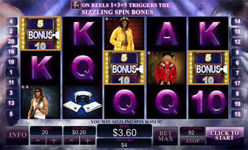 chippendales slot reel view