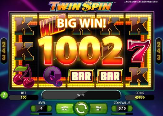 big win at twin spin slot