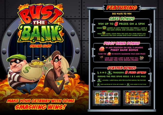 bust the bank promo