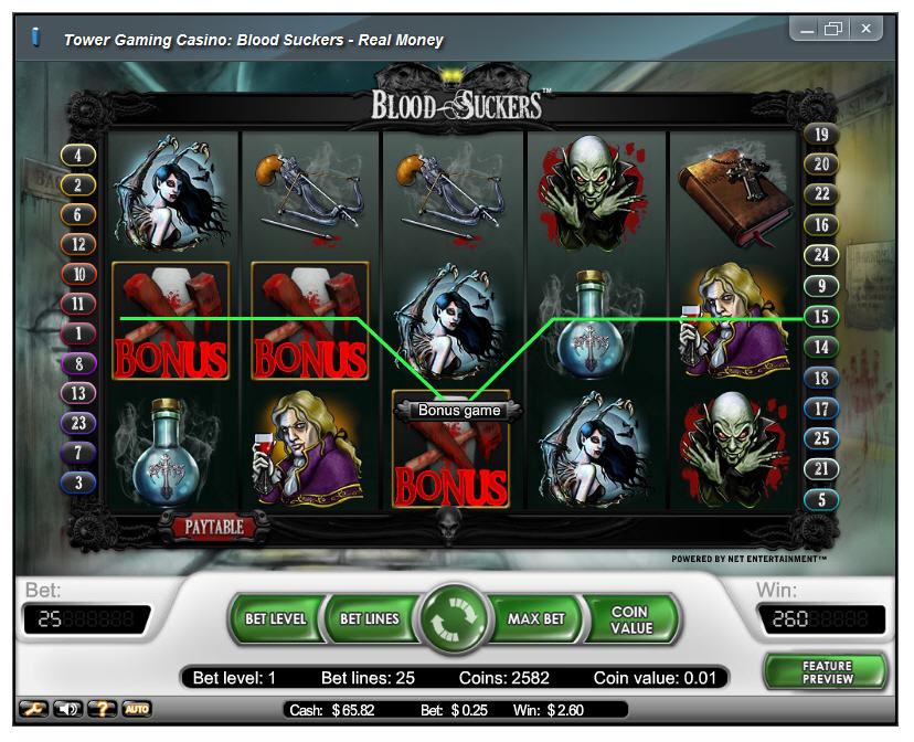 blood suckers slot bonus