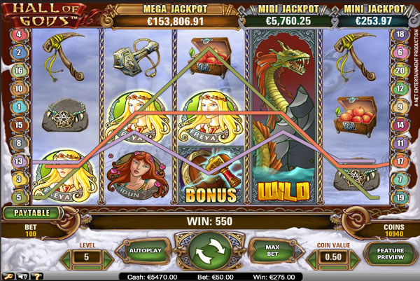 hall of gods slot online