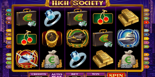 high society slot reel view