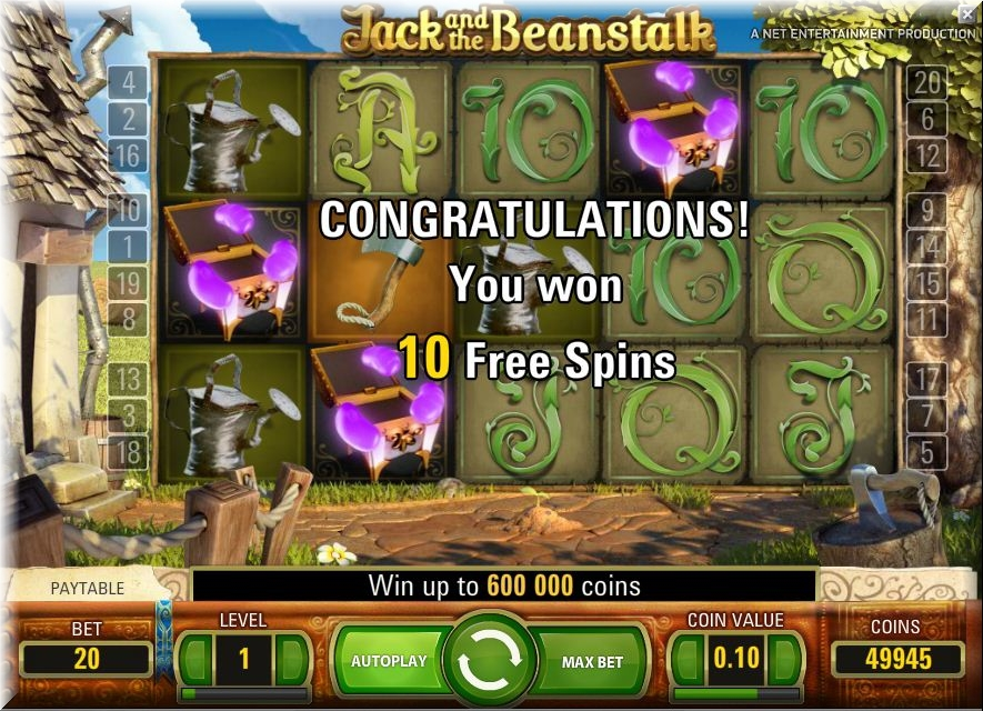 free slot jack and the beanstalk