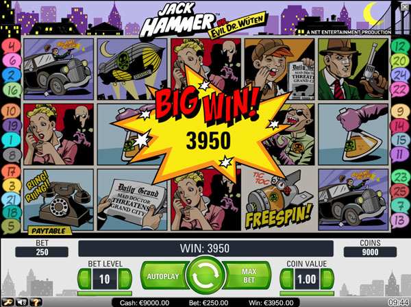 big with at jack hammer slot