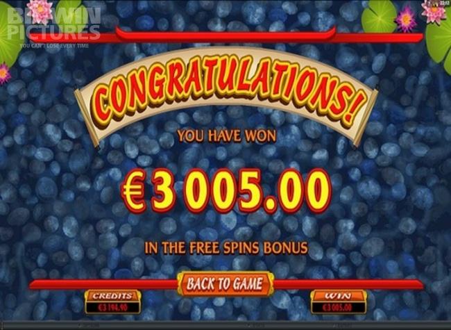 lucky koi big win!