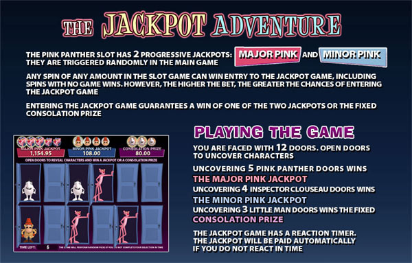 pink panther jackpot game