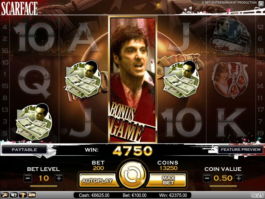 scarface slot reel view