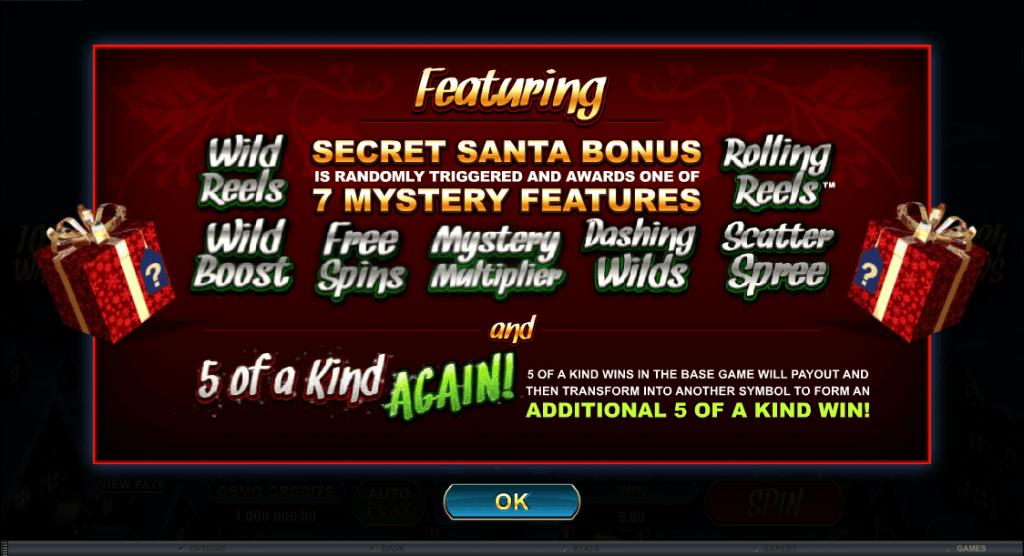 secret santa free spins feature