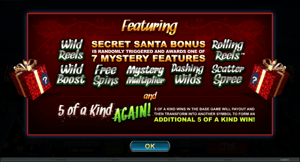 secret santa free spins feature