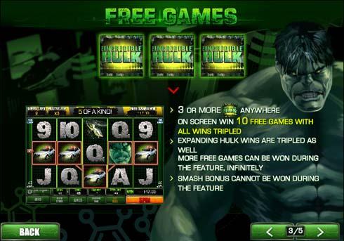 the incredible hulk slot free games