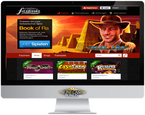 casino fantasia homepage in an imac