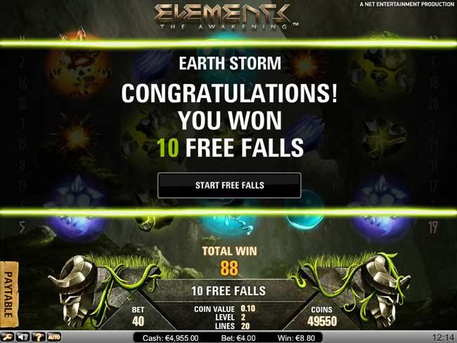 elements slot free falls