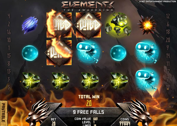 elements slot reel view