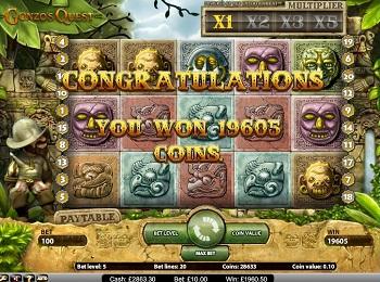 gonzo's quest slot win