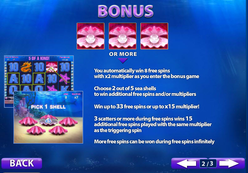 great blue slot bonus features