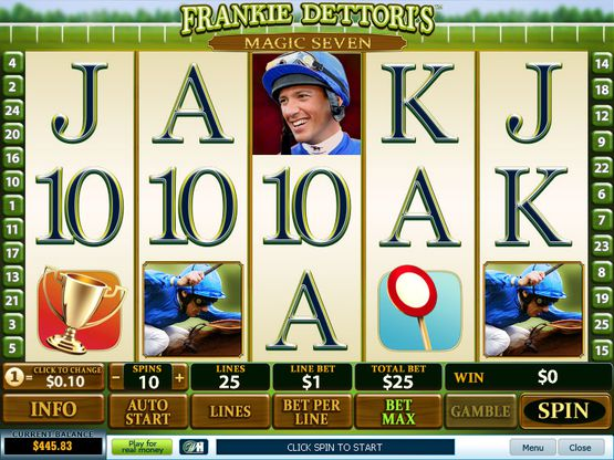 frankies dettories magic sevens slot reel view