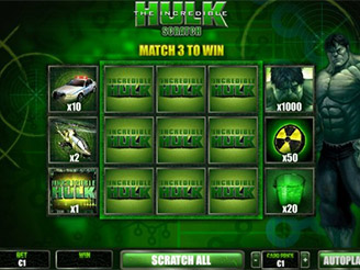hulk slot scratch card bonus