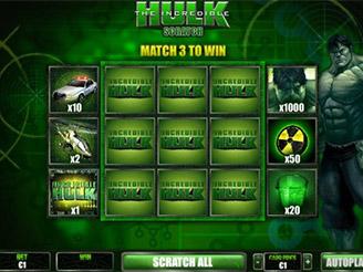 hulk slot scratch card bonus