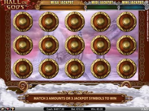hall of gods slot bonus round game