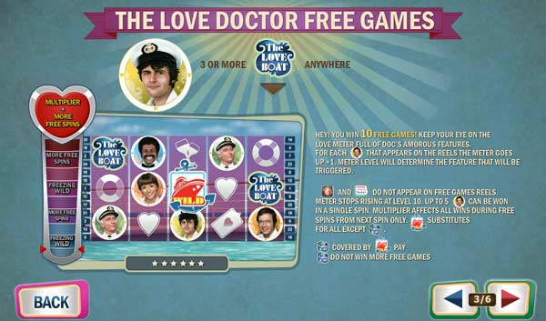 love boat slot free spins feature
