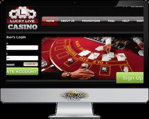 lucky live casino