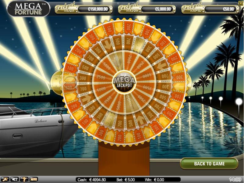 mega fortune bonus slot