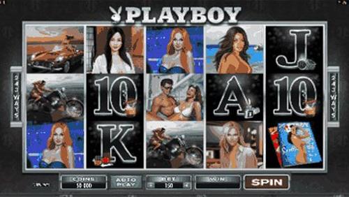 playboy slot reel view
