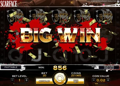 scarface slot big win