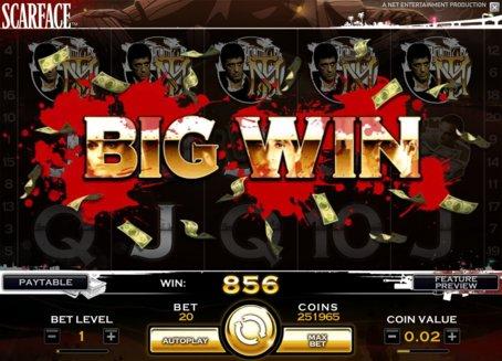scarface slot big win