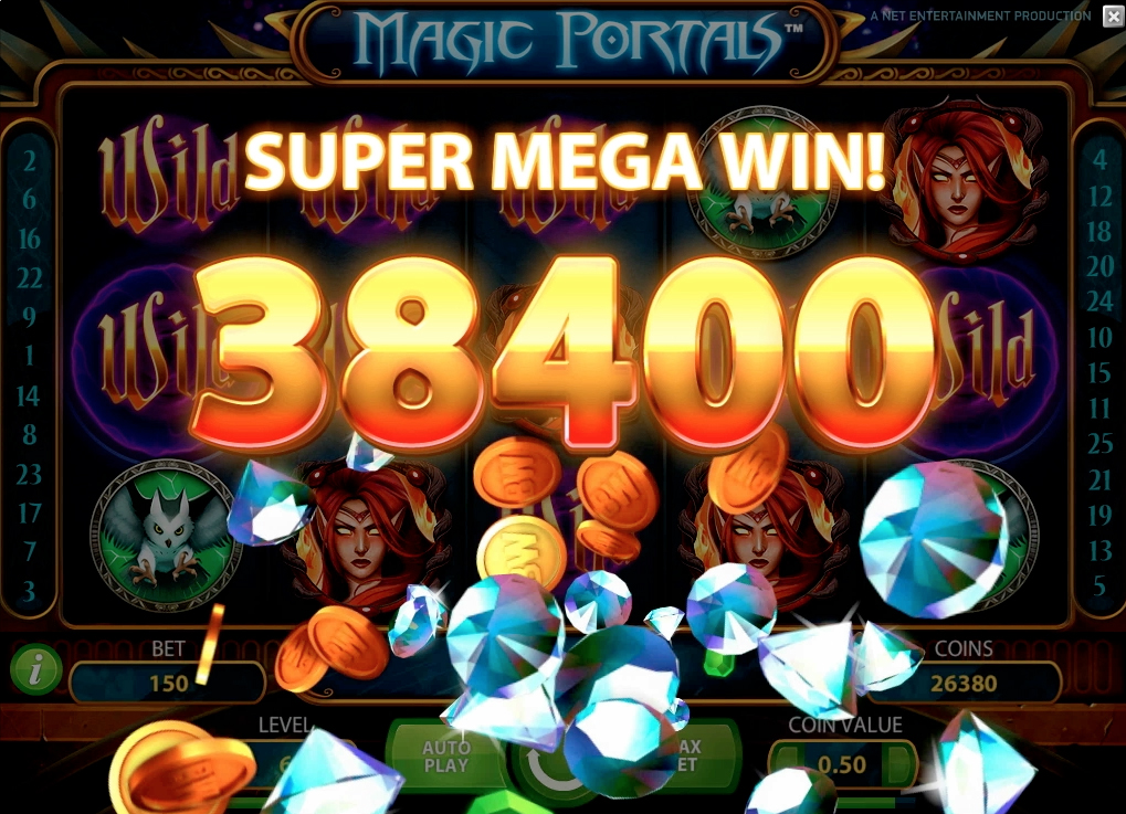 big win at magic portals slot