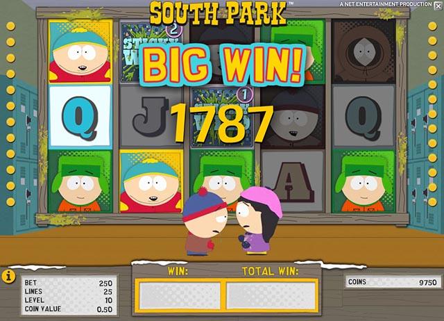 south park slot big win