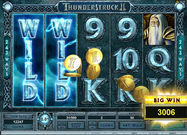thunderstruck 2 slot reel view