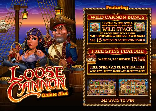 loose cannon slot poster
