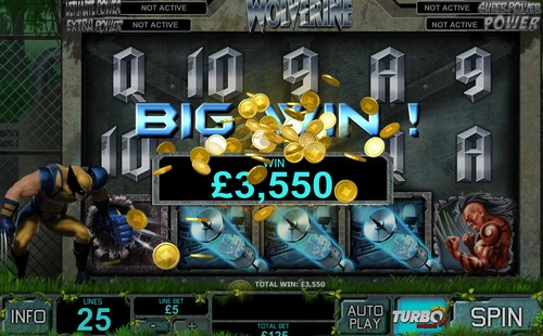 wolverine slot big win