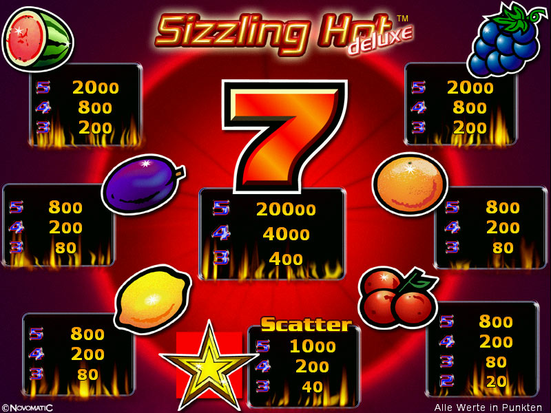 bonus online casino sizzling hot games