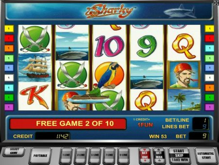 sharky slot free spins