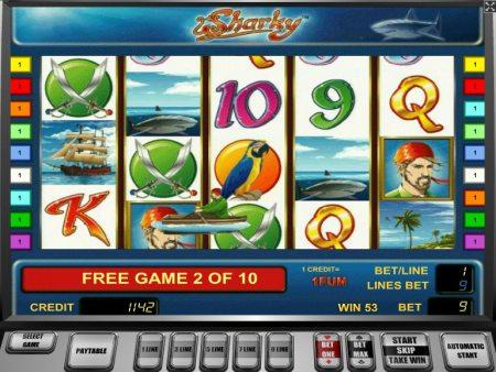 sharky slot free spins