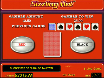 sizzling hot gamble feature
