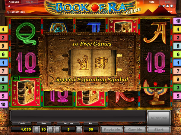 casino online book of ra fast money