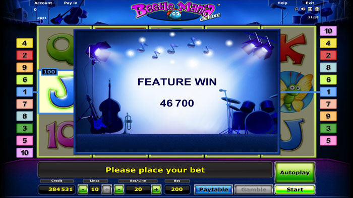 beetle mania slot big win