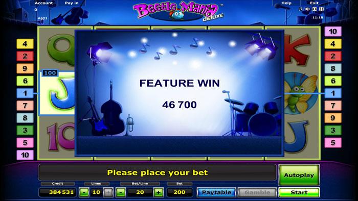 beetle mania slot big win