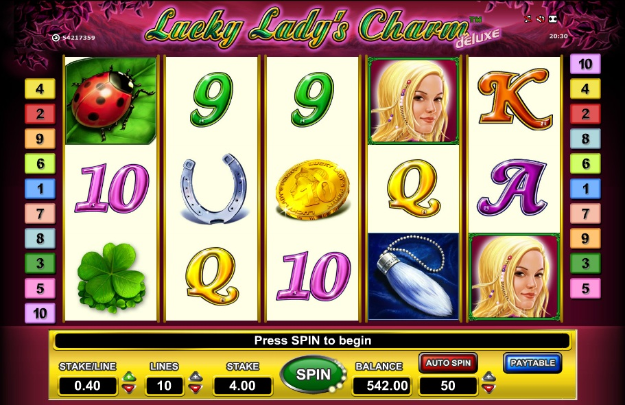 online casino guide lucky charm book
