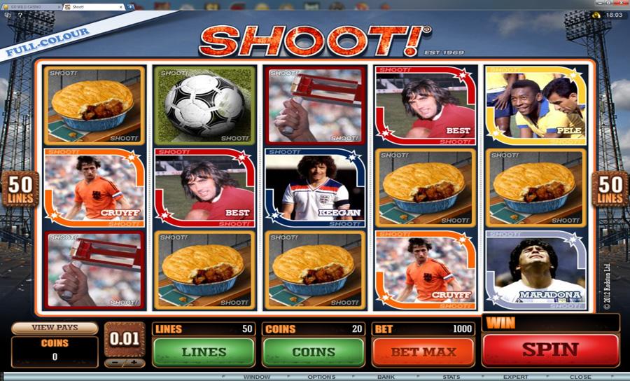 shoot slot reel view