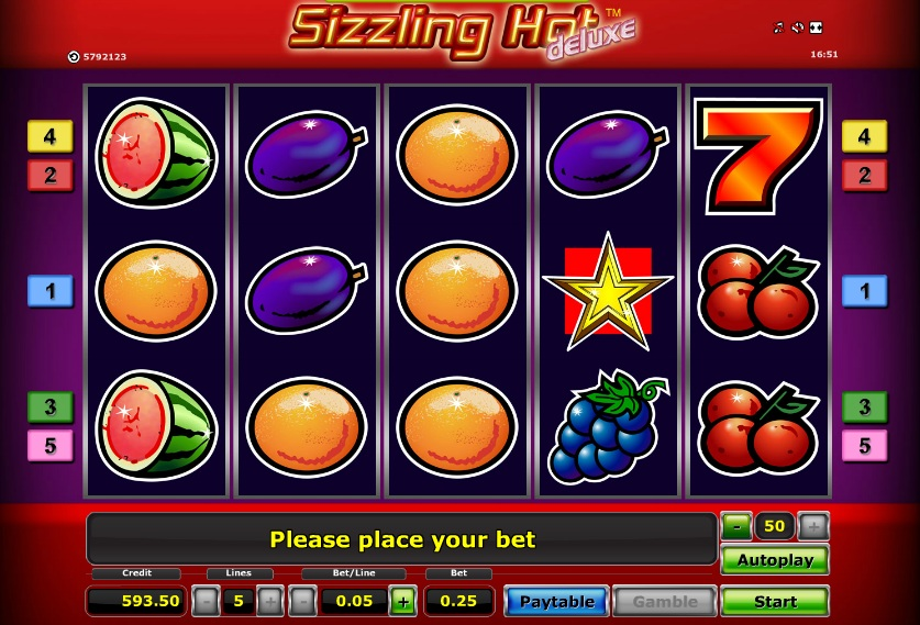 online casino cash sizzling hot games