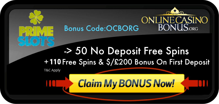 Prime slots casino bonus code roulette wizard of odds game