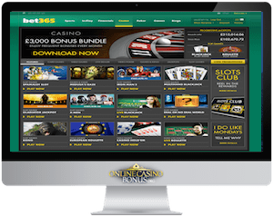 bet365 homepage in an apple imac