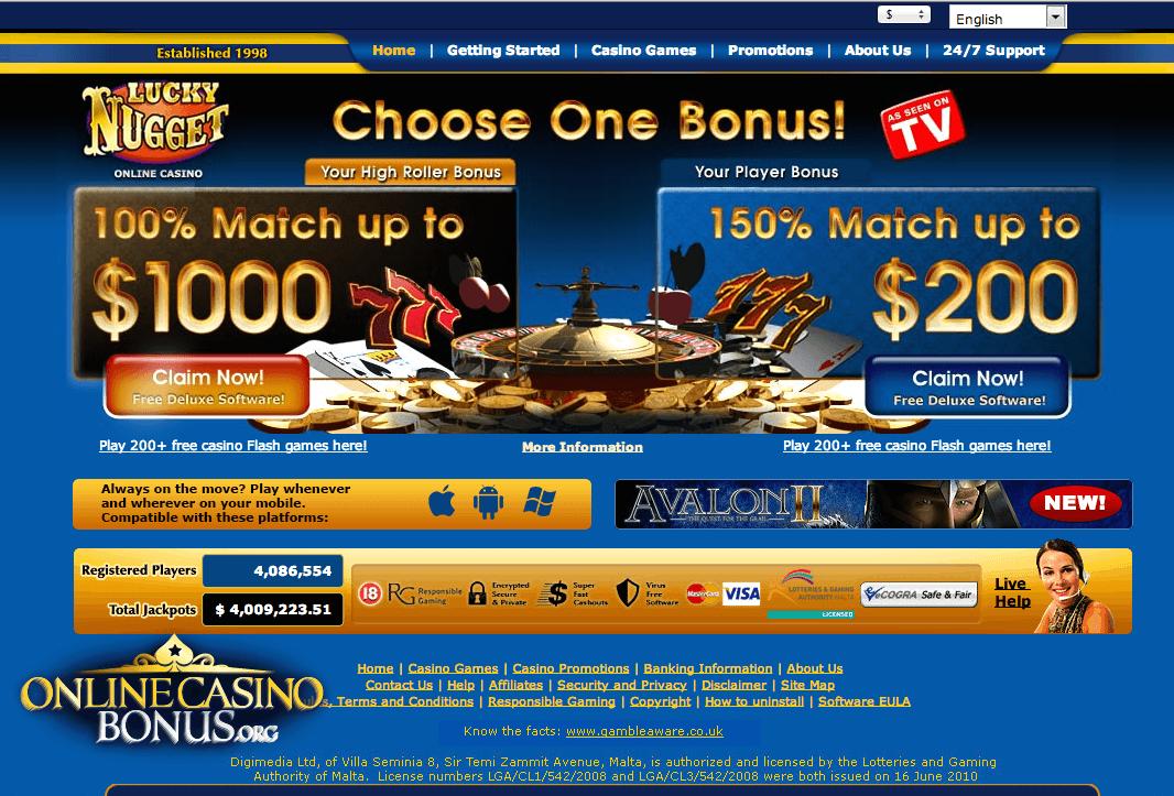 Lucky nugget casino free balleys hotel casino