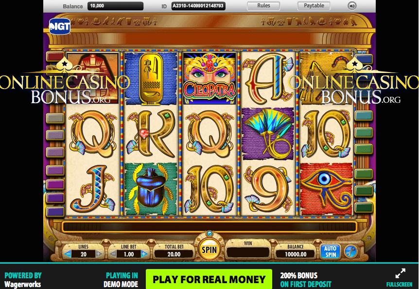 Игровой автомат онлайн Cleopatra II - бесплатный слот