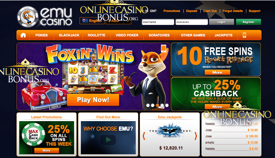 Free Spins Emu Casino